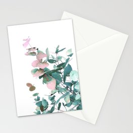 Rose and Teal Eucalyptus bouquet Stationery Cards