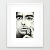 robert downey jr Framed Art Prints featuring Robert Downey Jr by Shara Perry