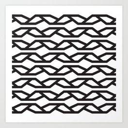 K Pattern Art Print
