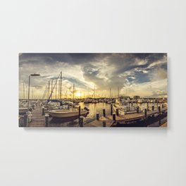 Summer Harbor Sunset Metal Print