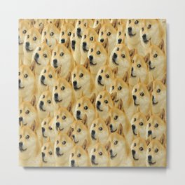 Doge Such Wow Metal Print