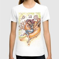 led zeppelin T-shirts featuring The Little Mermaid Ariel Turntable Led Zepellin 70s Art by AnthonyHelmer