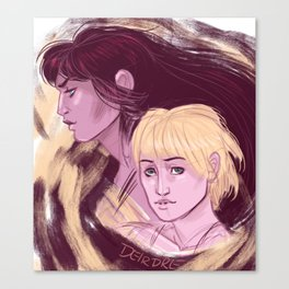 Xena and Gabrielle Portraits Canvas Print