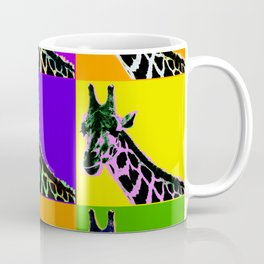 Poster with giraffe in pop art style Coffee Mug