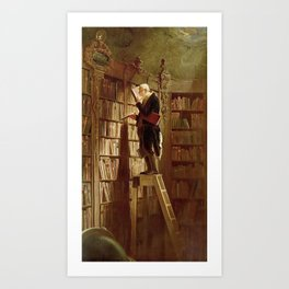 """The Bookworm"", 1850 Art Print"