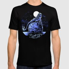 Mermaid Skull Black MEDIUM Mens Fitted Tee