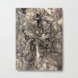 Blackened flowers Metal Print