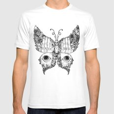 hate love butterfly Mens Fitted Tee White MEDIUM