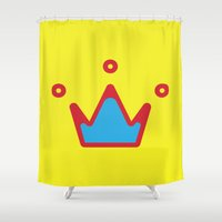 crown Shower Curtains featuring CROWN by ^NHRK