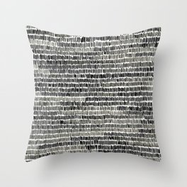 Watercolour Lines Throw Pillow