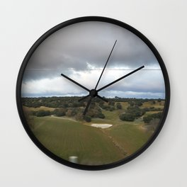 View from Train: Storm is coming Wall Clock