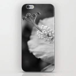 Hybiscus in Black and White iPhone Skin