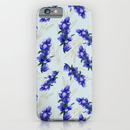 Hand painted watercolor lavender flower bloom, provence iPhone Case