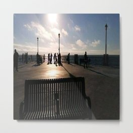 A Bench Tells Many Stories Metal Print