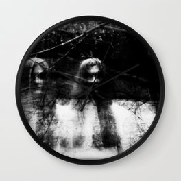Ghost Sisters Wall Clock