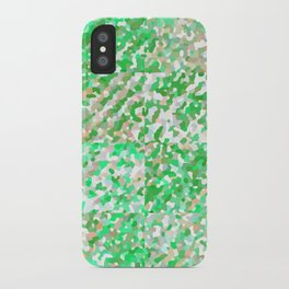 Green & Orange Delight (Squares) iPhone Case