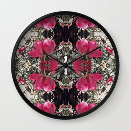 rose is a rose is a rose Wall Clock