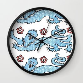 3 Lions Wall Clock