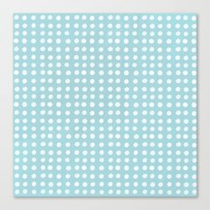 Blue Polka Pattern Canvas Print