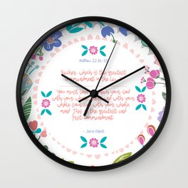 The Greatest Commandment | Matthew 22:36-38 Wall Clock