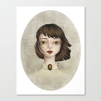 coraline Canvas Prints featuring Coraline by Gökçenur