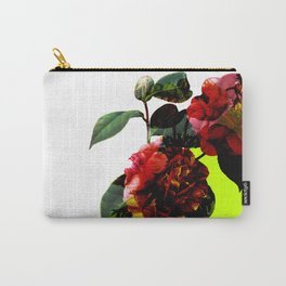 Vintage Blooms /Neon Wedge Carry-All Pouch
