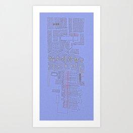 Stitches: City lines Art Print