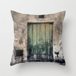 Green Door III Throw Pillow
