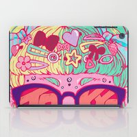 travel poster iPad Cases featuring Tokyo Travel Poster by Caitlin Quirk