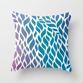 Color Flow Throw Pillow