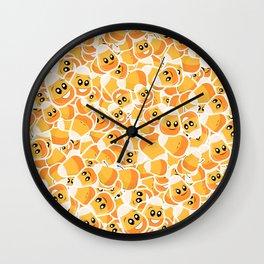 Candy Corn Emoji Pattern Wall Clock