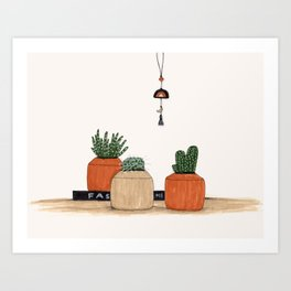3 Pots Art Print