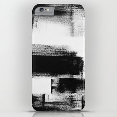 No. 85 Modern abstract black and white painting iPhone 6 Plus Slim Case