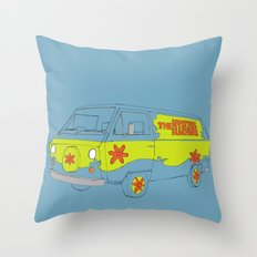 The Mystery Machine Throw Pillow