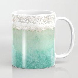 Tropical Beach Surf Aerial View Coffee Mug
