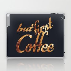Black grey coffee stain mug wall art print Laptop & iPad Skin
