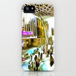 Kings Cross Station London Pop Art iPhone Case