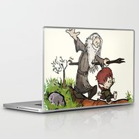 gandalf Laptop & iPad Skins featuring Bilbo and Gandalf by Cool Johnny
