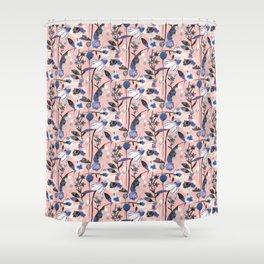 Pastel spring flowers pattern Shower Curtain