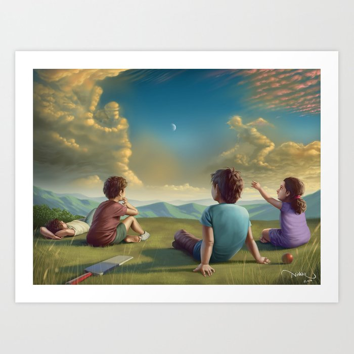 Cricket dreamer Art Print