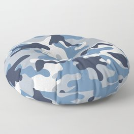 Blue and White Camo Floor Pillow