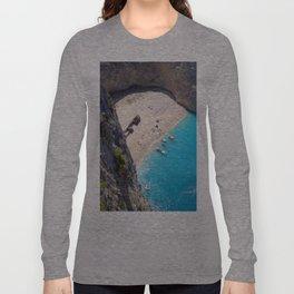 Hidden Beach & Shipwreck 2 Long Sleeve T-shirt
