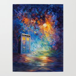 Tardis Doctor Who Rainbow Abstract Poster
