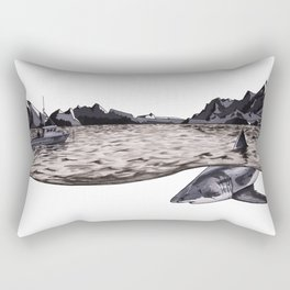 The Man in the Black Suit Rectangular Pillow