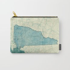 New Hampshire State Map Blue Vintage Carry-All Pouch