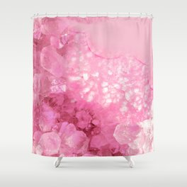 Sweet Pink Crystals Shower Curtain