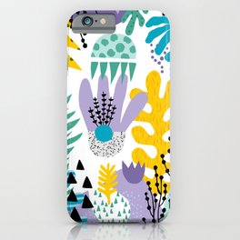 Abstract Plants Pattern iPhone Case