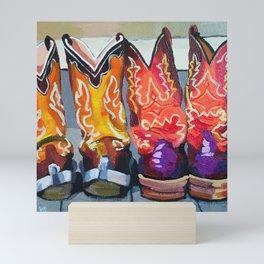Boot Heels Mini Art Print