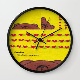 Grumpy Bear - Coasters Wall Clock