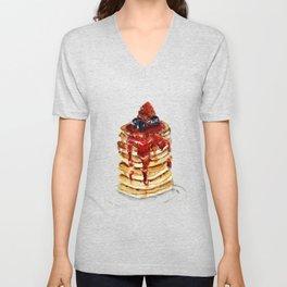 Berry Pancakes Unisex V-Neck